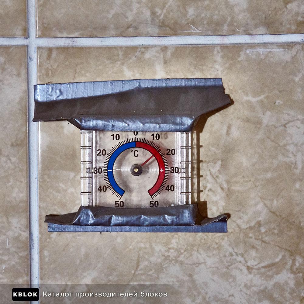 Термометр в камере