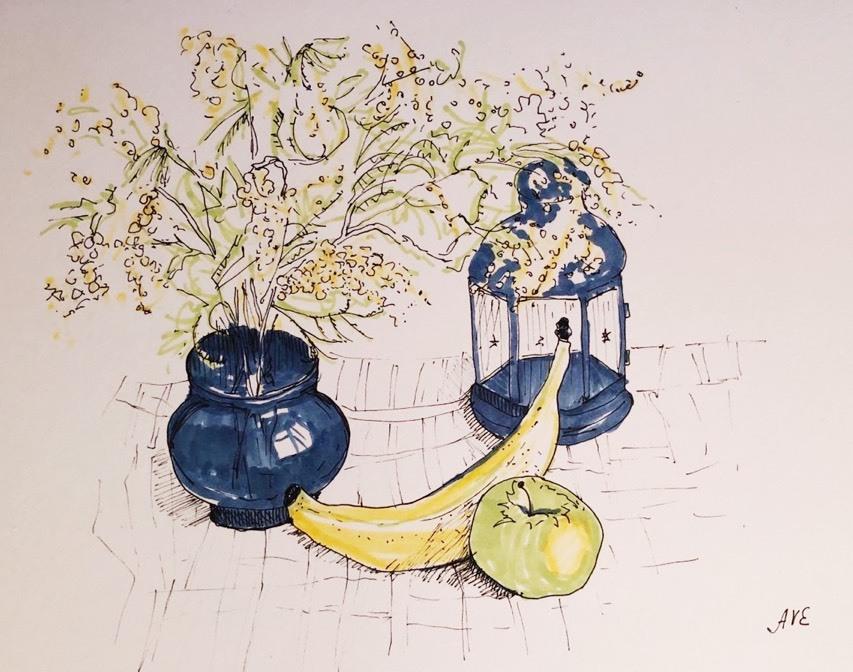 Егорова Анастасия / тема «Декоративный натюрморт» / акварель