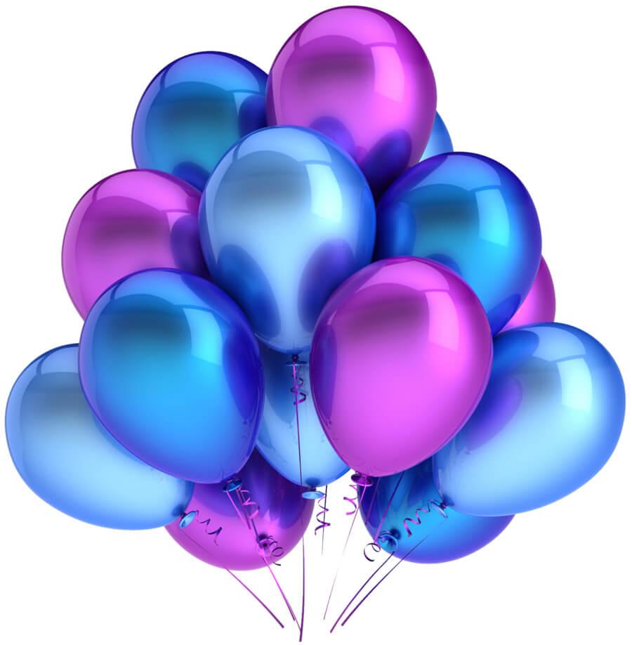 Открытка поздравительные шарики