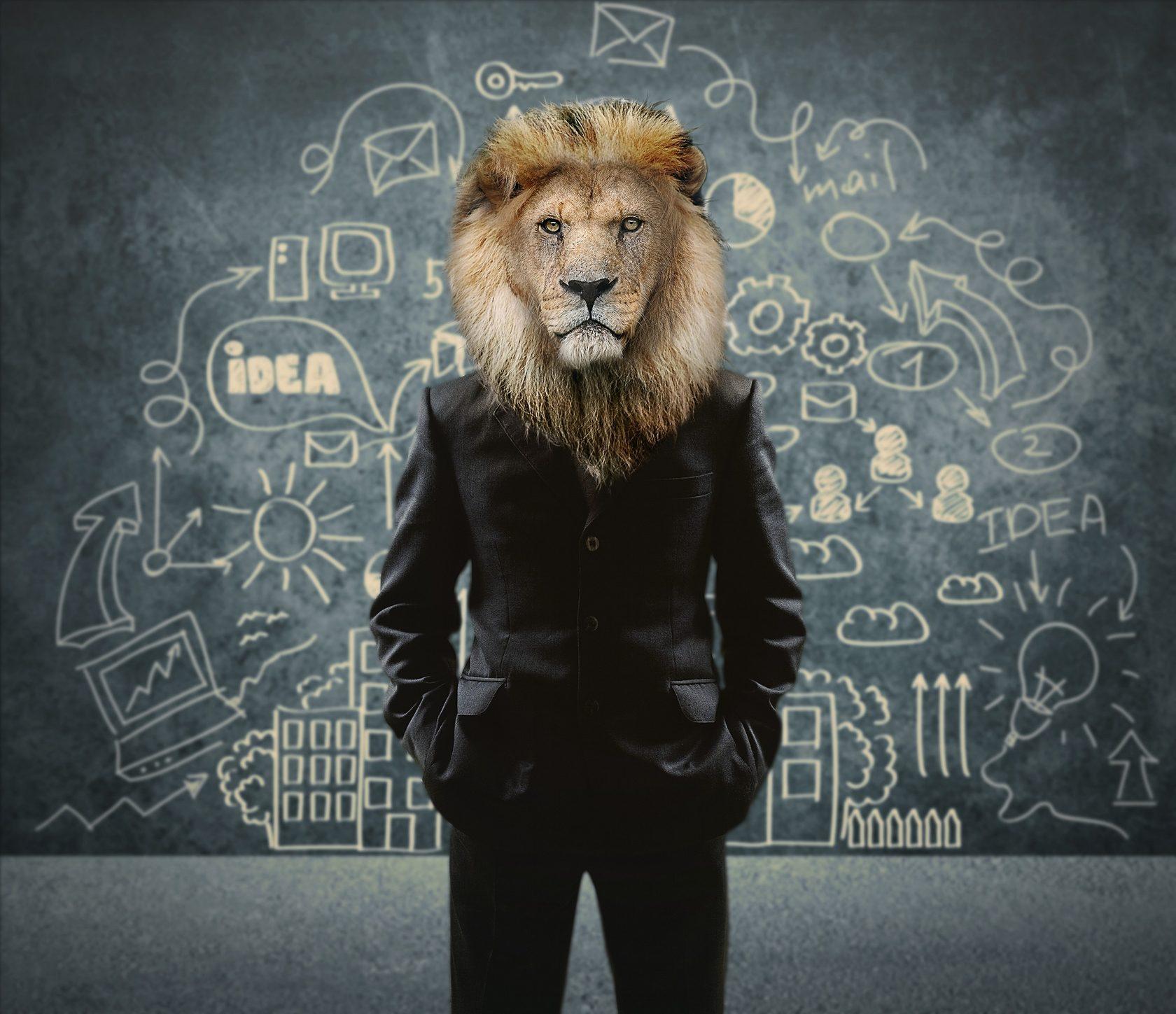 картинки человека с головой льва