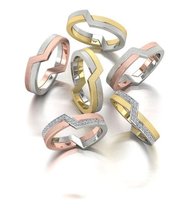 Обручальные кольца купить по выгодной цене из комбинированного золота Ювелирная студия Виктора Шадрина