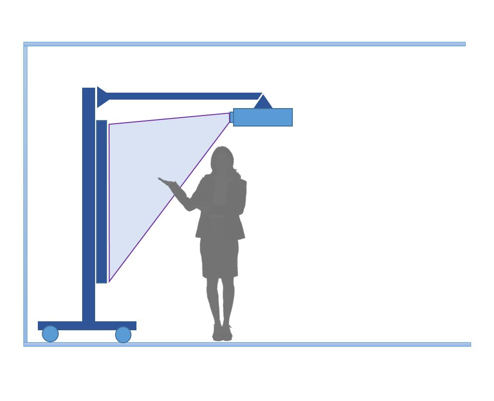 Интерактивная доска с проектором и стойкой