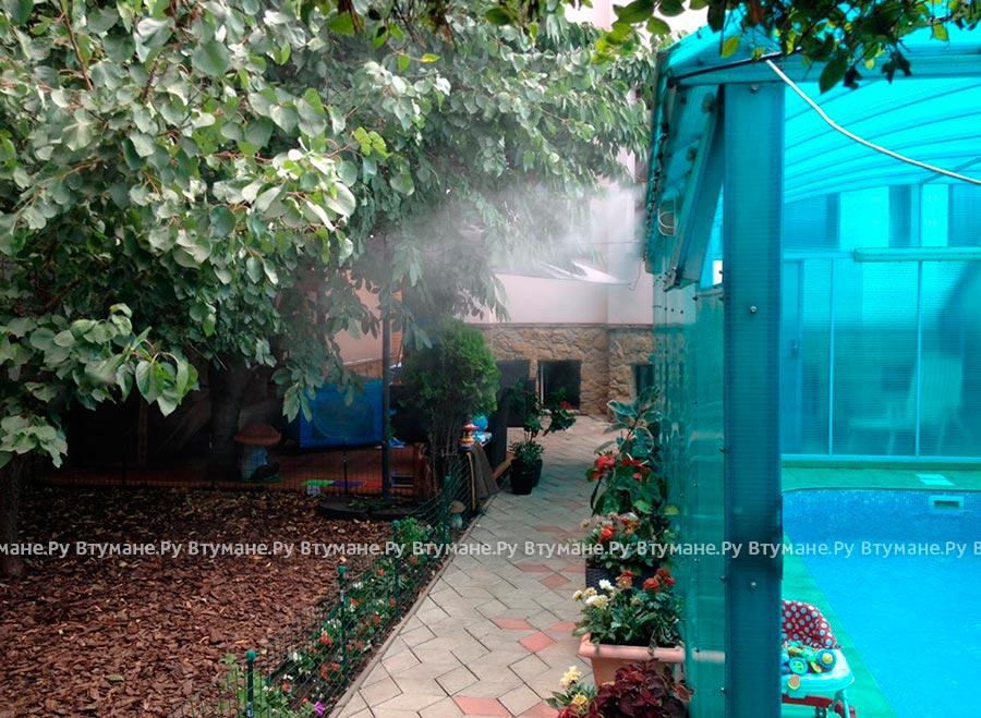 Охлаждение туманом веранды дома в Краснодаре
