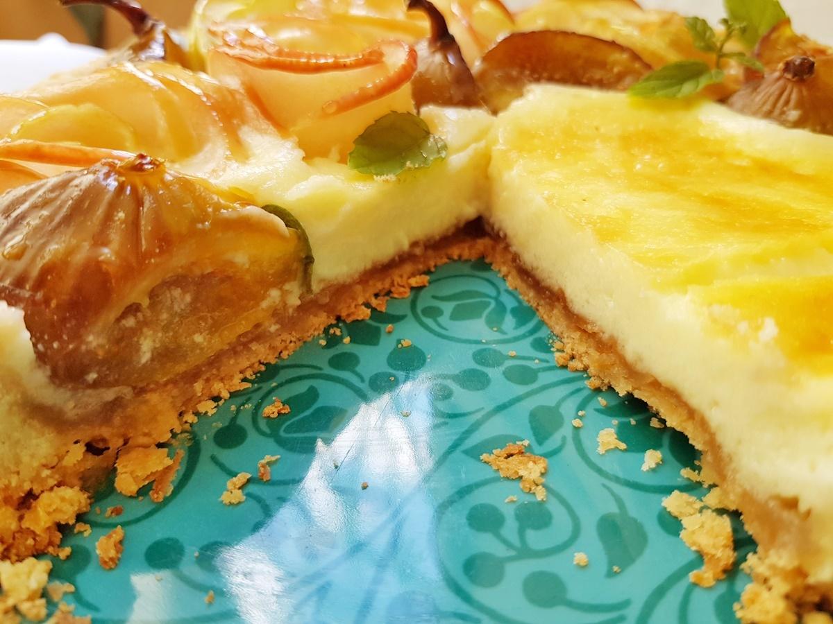 Десерт на Рош хашана - чизкейк с яблоками. Изралиьская кухня.