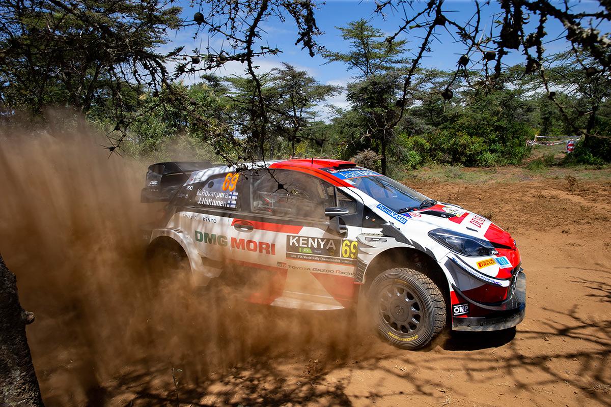 Калле Рованпера и Йонне Халттунен, Toyota Yaris WRC, ралли Сафари 2021