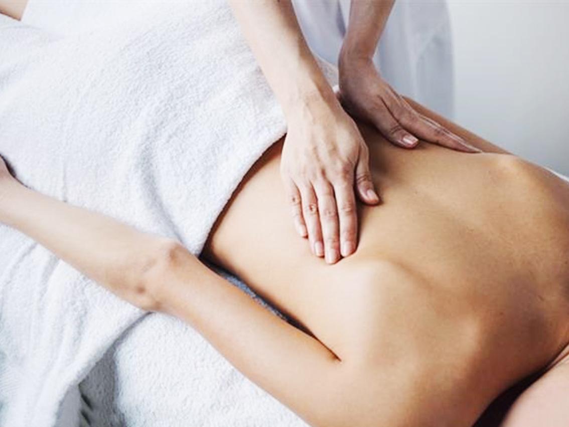 Массаж похудение спины