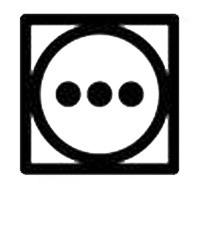 Символ за сушене на дрехи в сушилня с висока температура