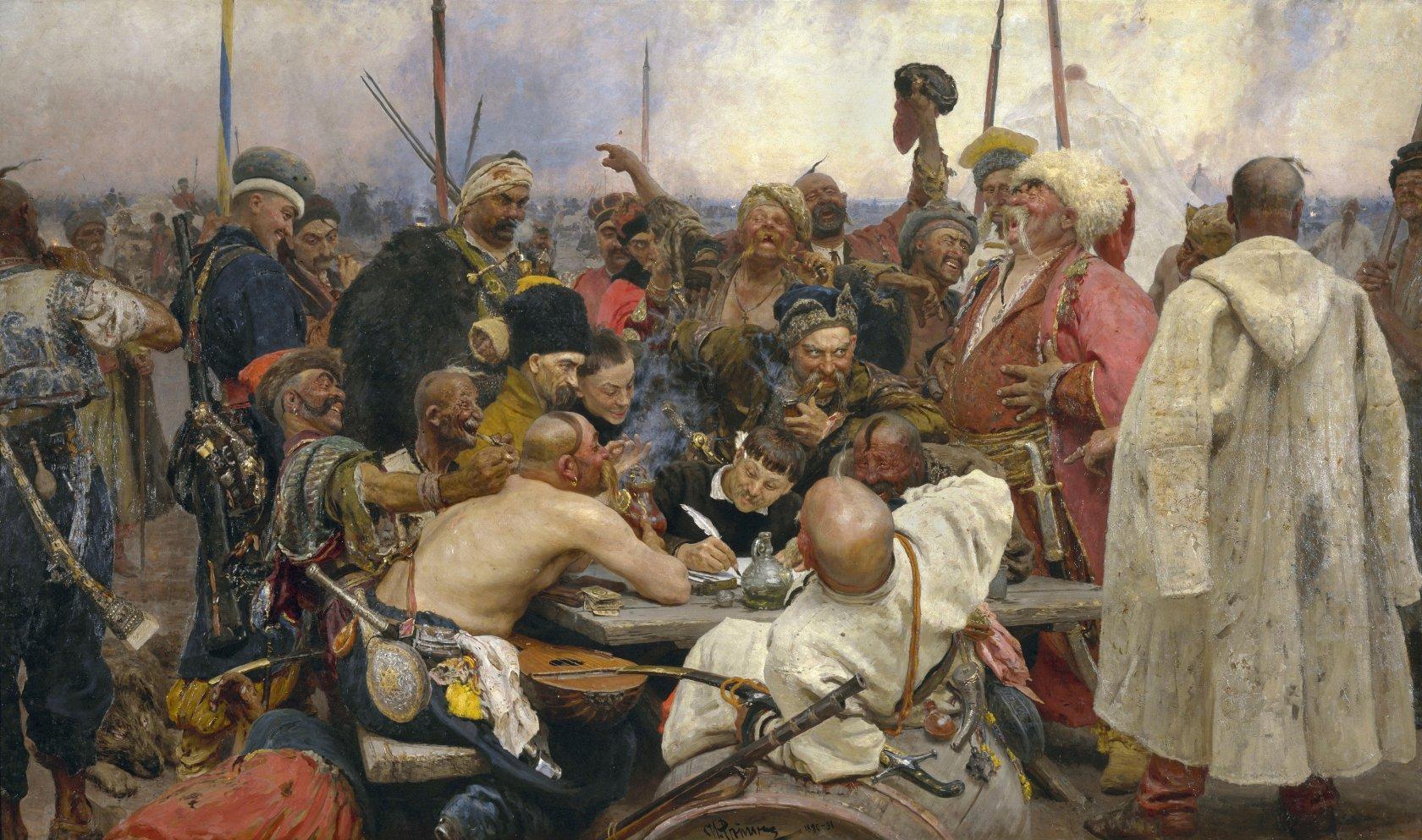 «Запорожцы пишут письмо турецкому султану», Илья Репин