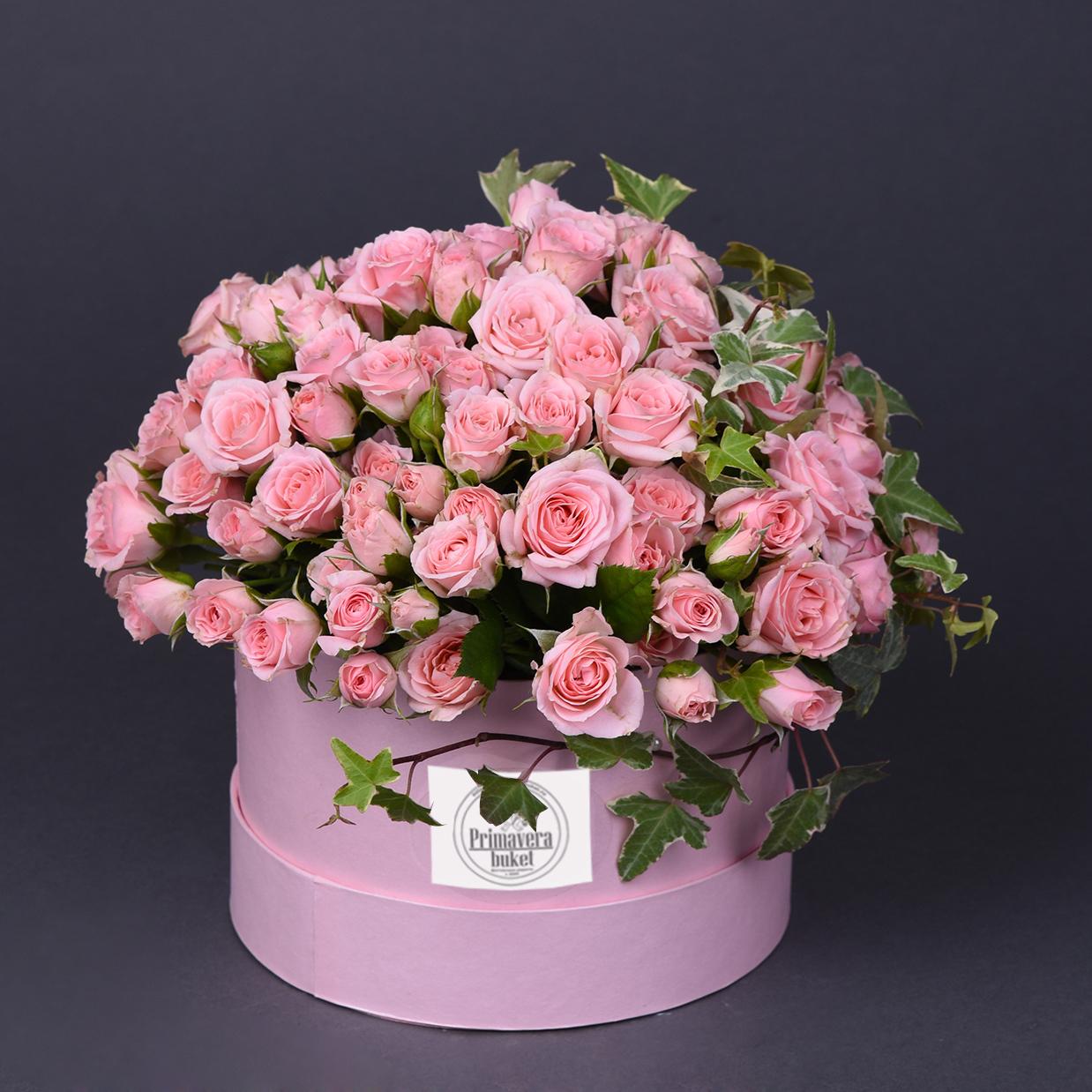 Открытки с днем рождения цветы в коробке розы