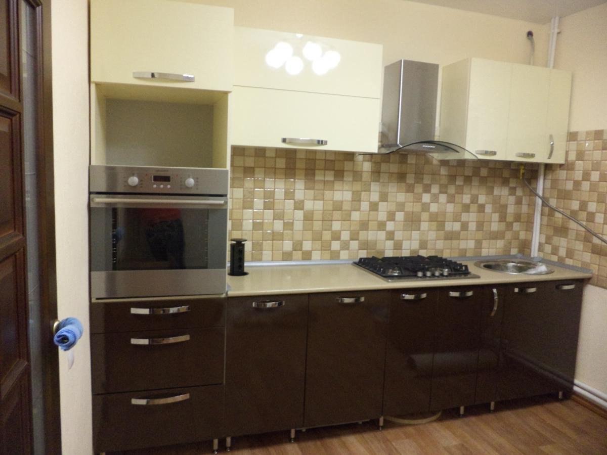 Кухня низ шоколад верх ваниль фото