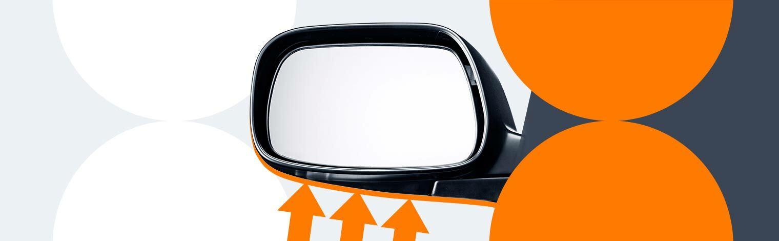 парковка с помощью бокового зеркала