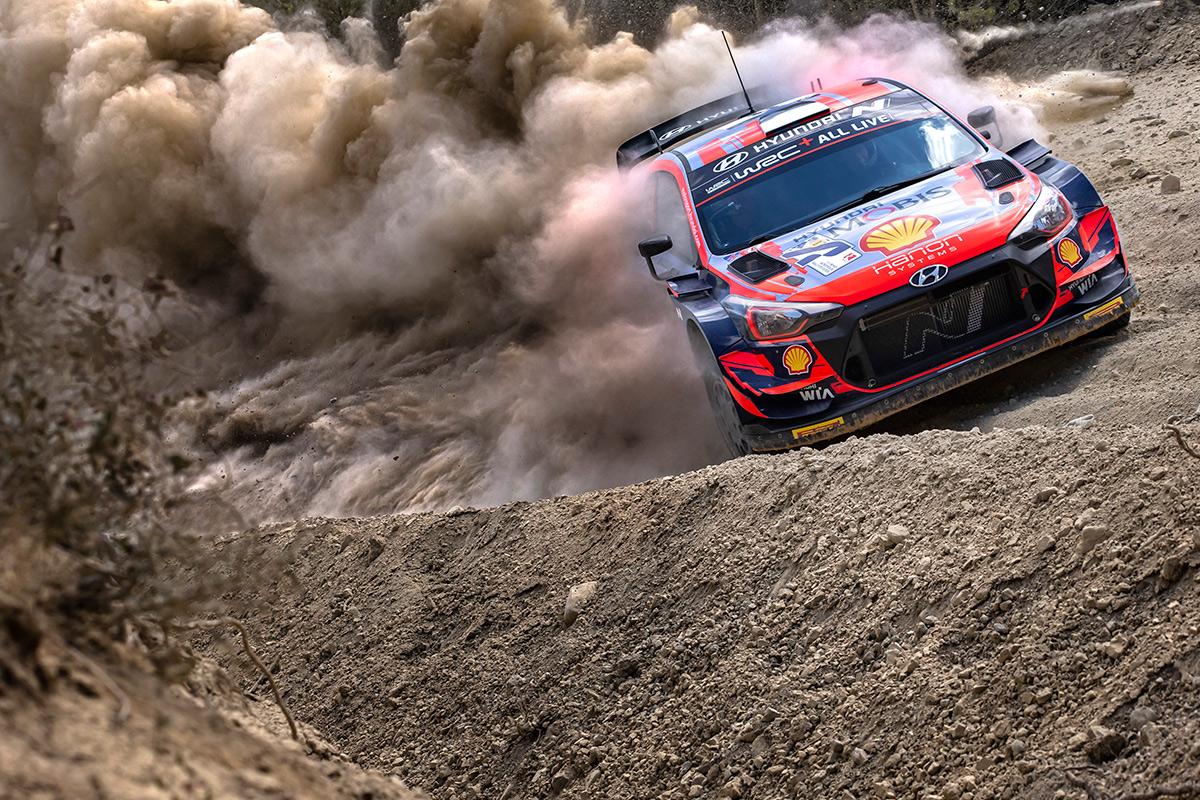 Отт Тянак и Мартин Ярвеоя, Hyundai i20 Coupe WRC, ралли Акрополь 2021