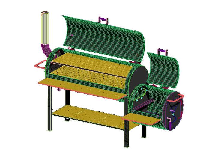 Угольный Смокер ProBBQ модель L