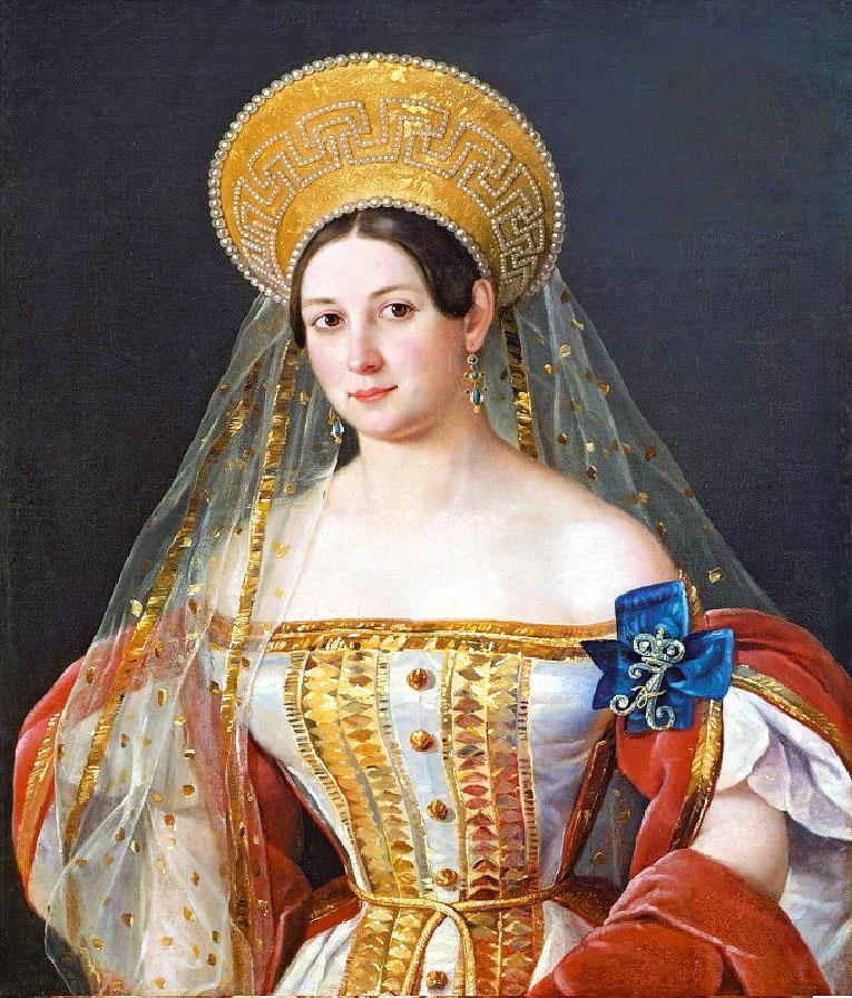 Пимен Орлов. Портрет фрейлины императрицы Софьи Орловой-Денисовой (1835)