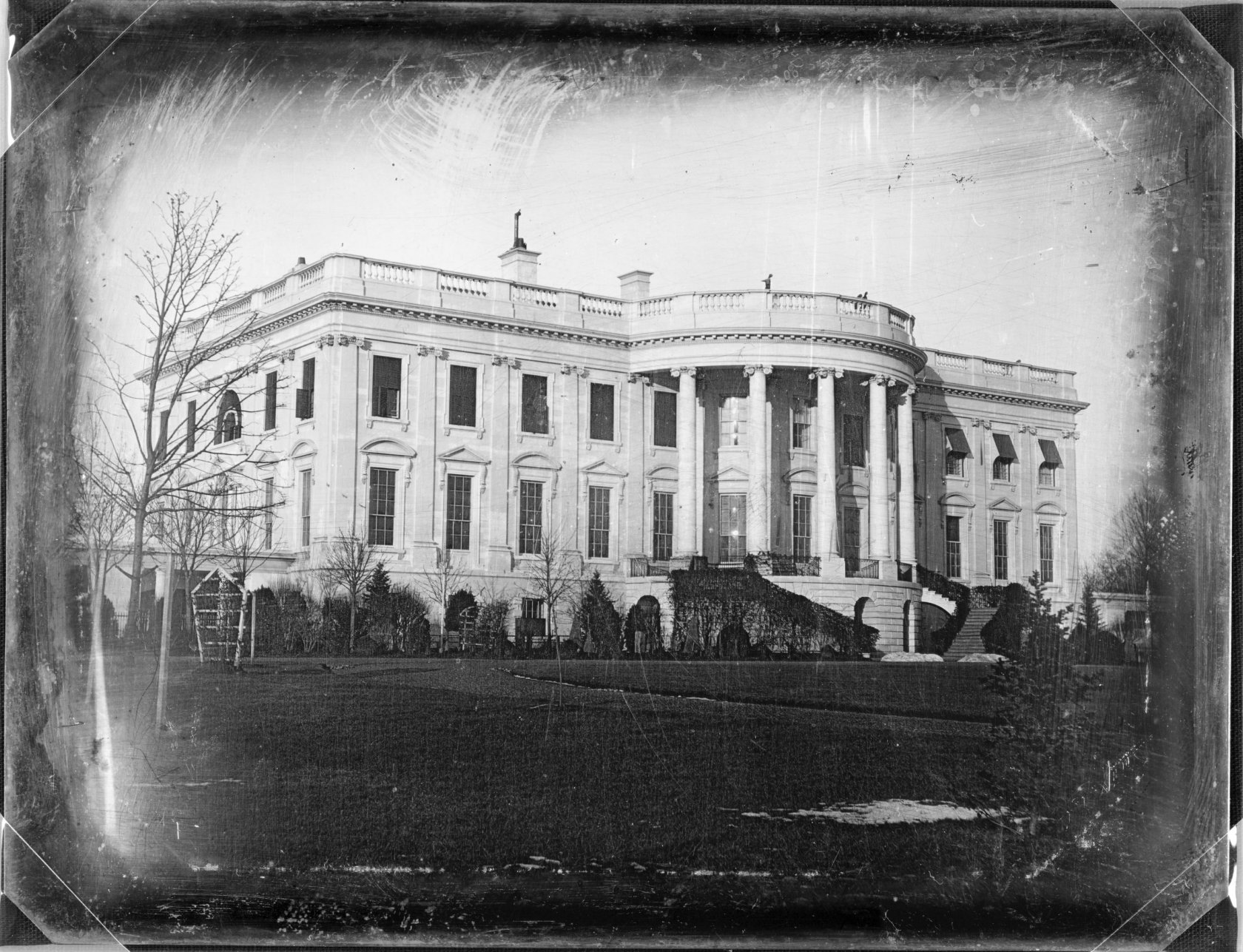 Белый дом, дагерротип 1846 года.