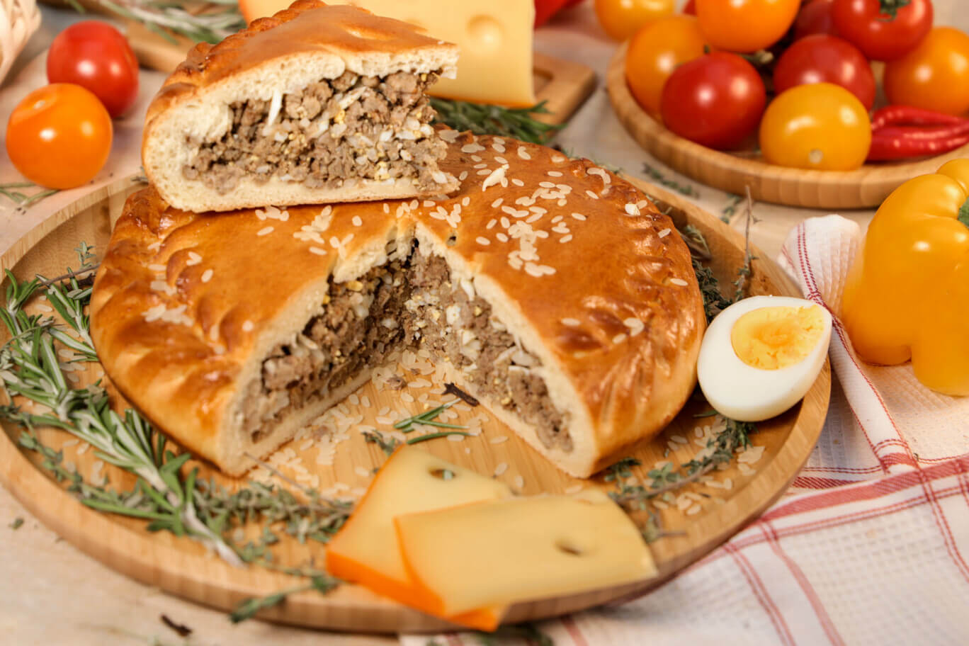 Картинки пирог мясной