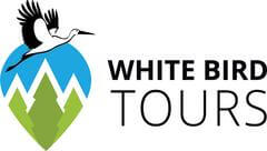 logo white bird tours