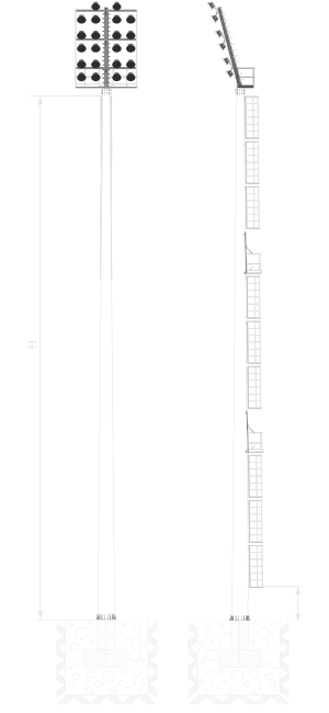 Мачты со стационарной короной  тип МГФ-СР