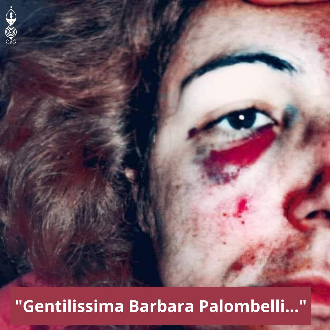 Patrizia Cadau con il volto tumefatto dalla violenza del marito