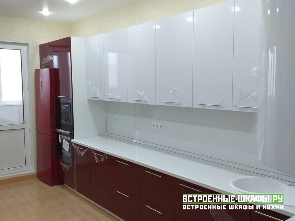 Недорогая встроенная кухня угловая сделанная на заказ