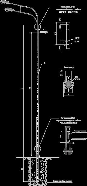 Опоры силовые фланцевые граненые тип CФГ