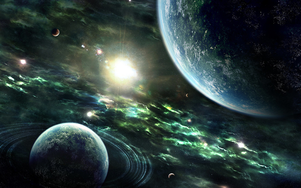 Обои огненный хвост, астероид, планеты. Космос foto 15