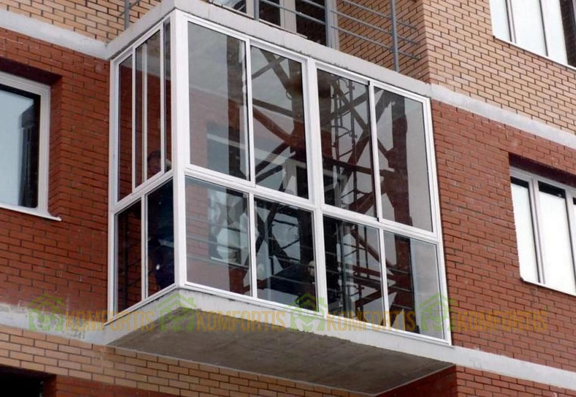 Балконы в хрущевке.