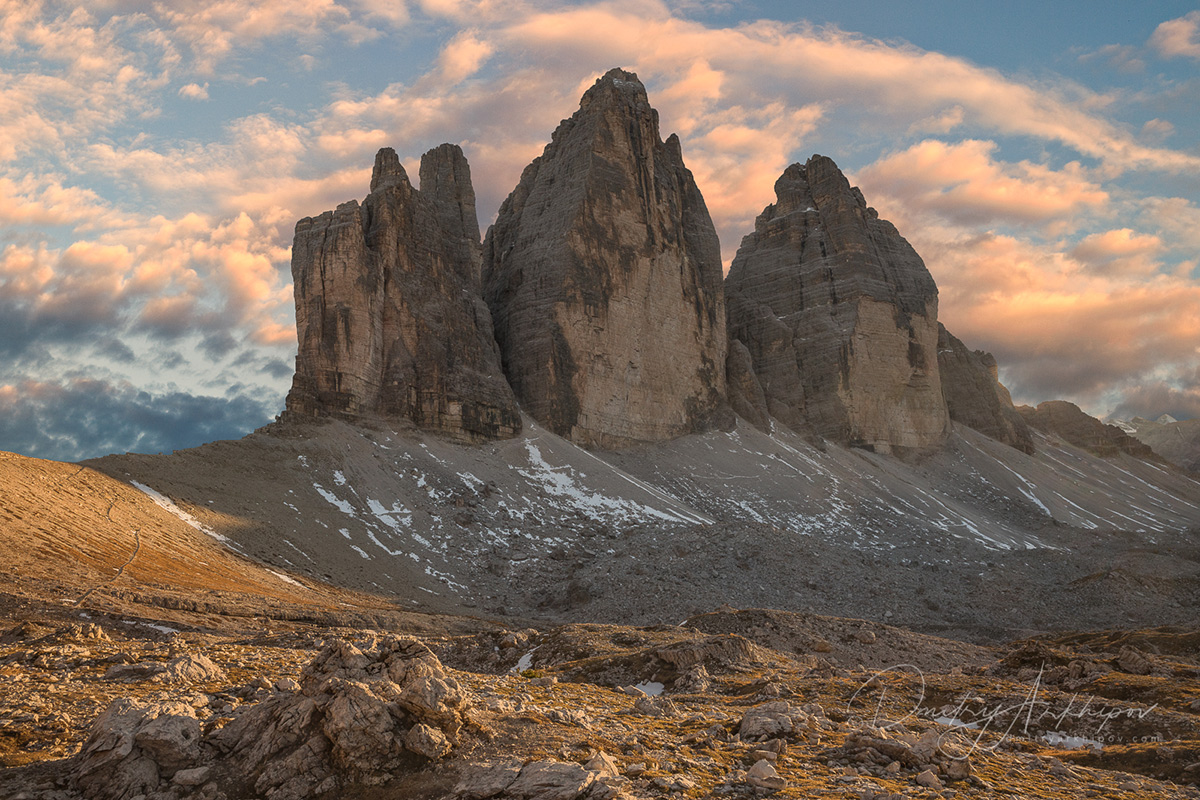 The three brothers in Dolomites