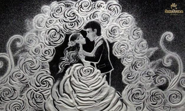 снежная анимация на свадьбе