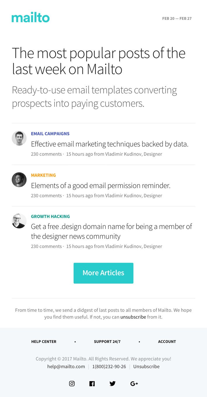 Mailto — Responsive HTML Email Templates