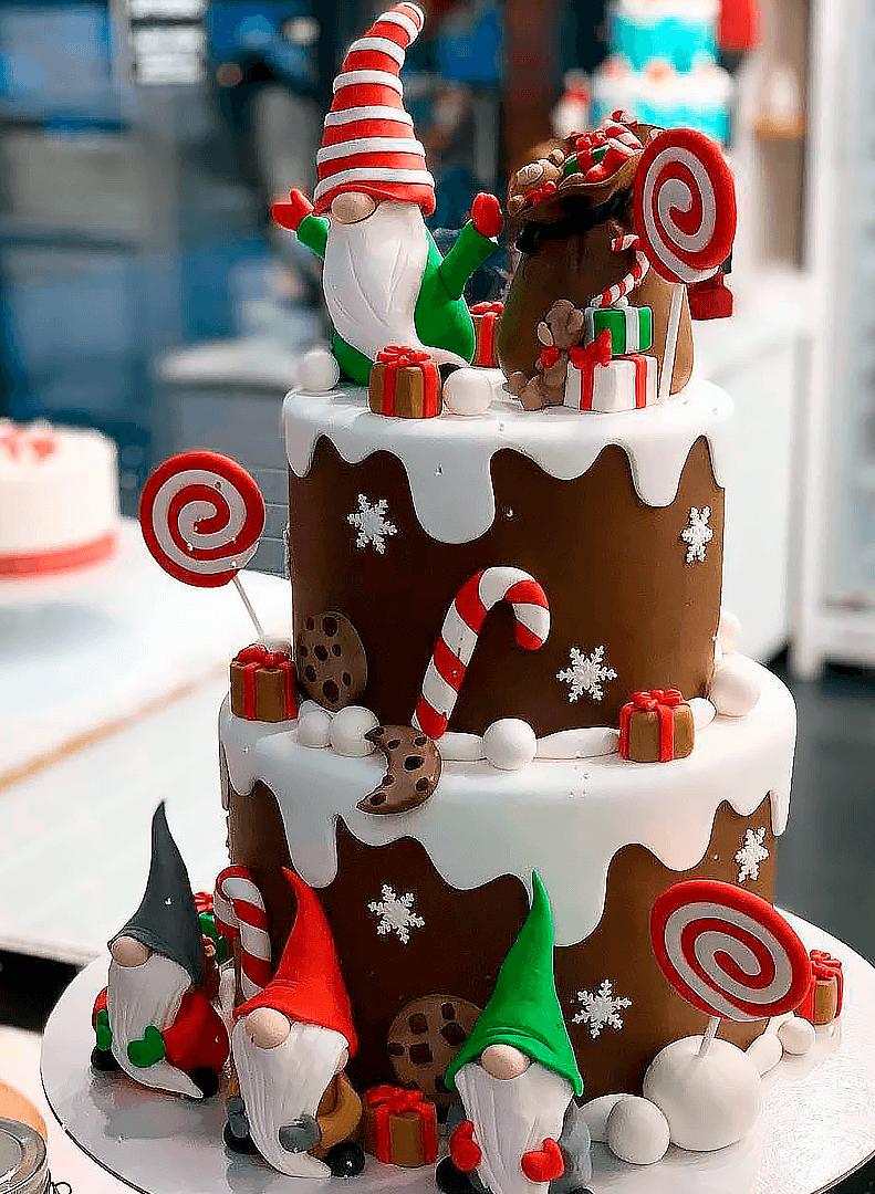 татарстана картинки новогодних тортов простых двухскатных