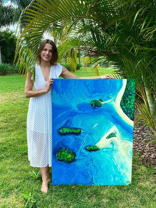 Thailand Islands painting by Olga Zonova. Ocean Art. Sea painting