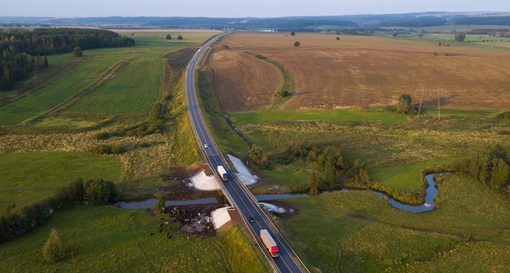 В течение 2017 года прирост сети федеральных трасс составил почти 495 км (фото: Росавтодор)
