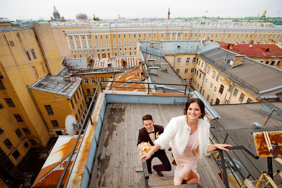 В чем фотографироваться на крыше
