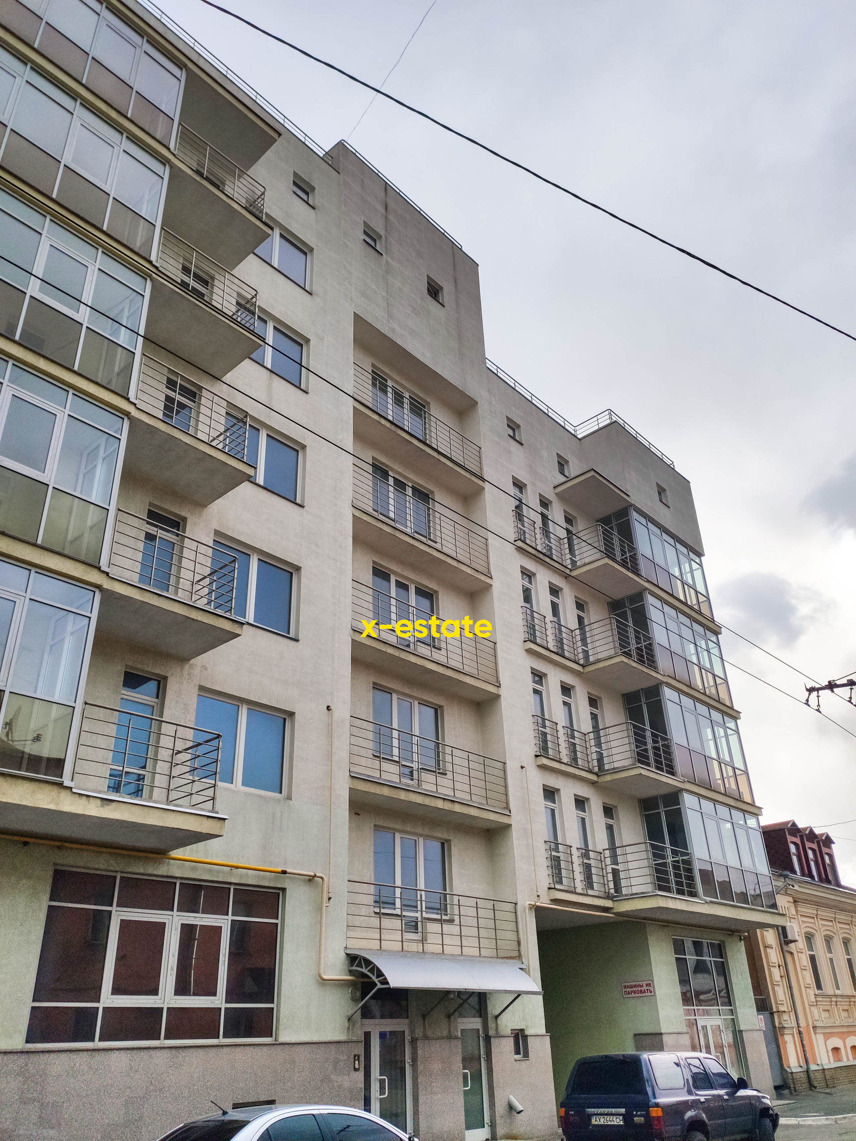 Фасад жилого комплекса Каскад