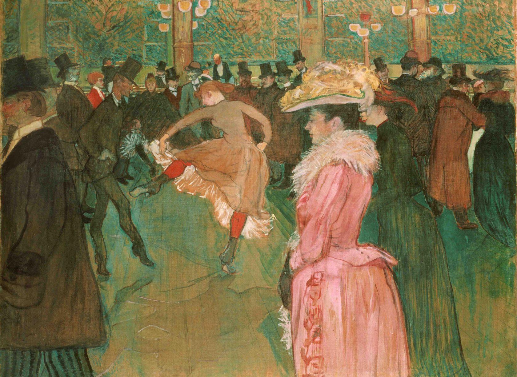 Анри Тулуз-Лотрека, Мулен Руже, картина — Танец, 1890 год