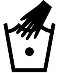 Пране на ръка със студена вода - символ на етикет