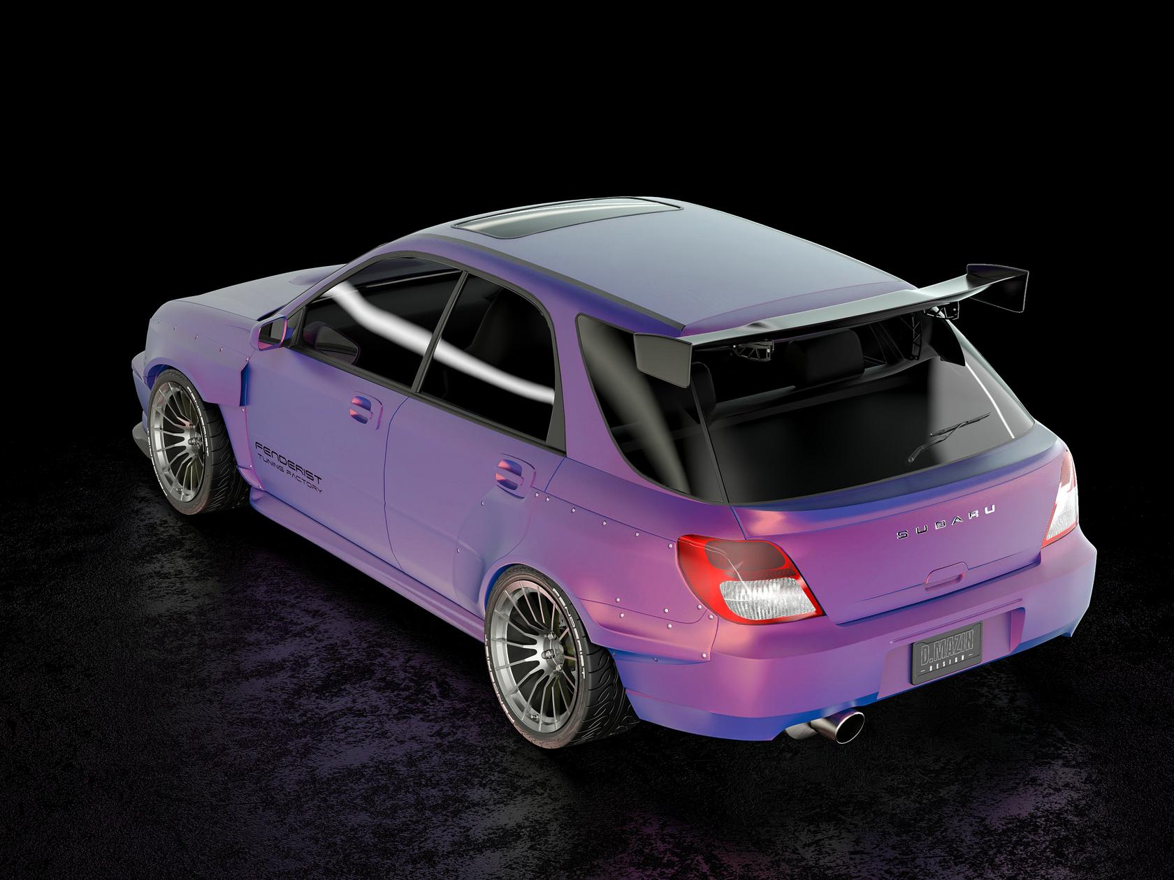 Fender Flares Set Subaru Impreza Wagon Wrx Wrx Sti 00 03