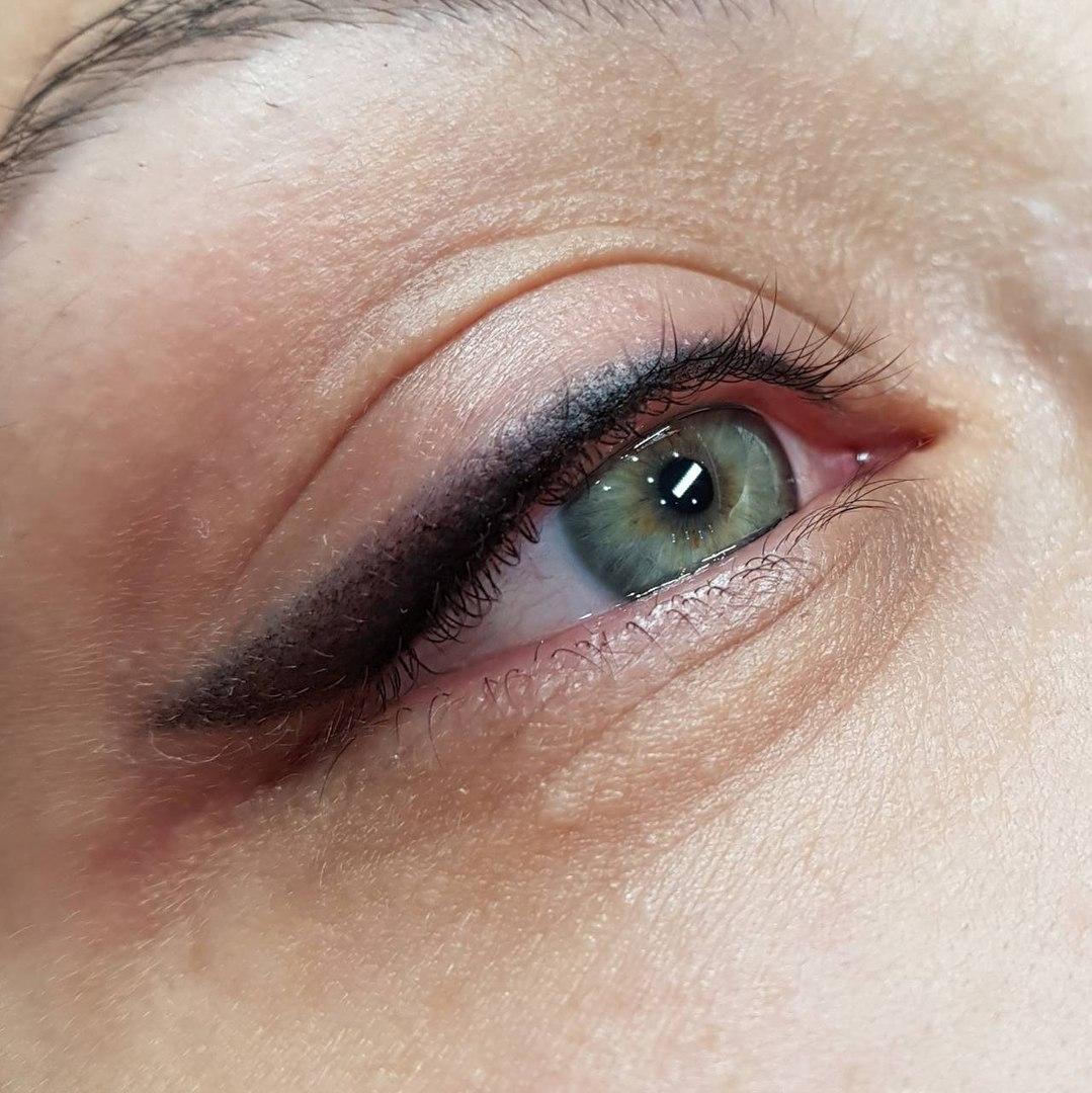 фото перманентного макияжа глаз снимки