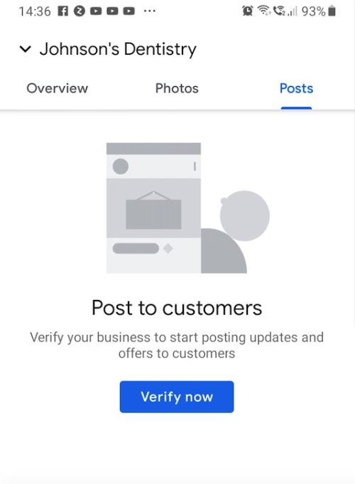 create posts to customers