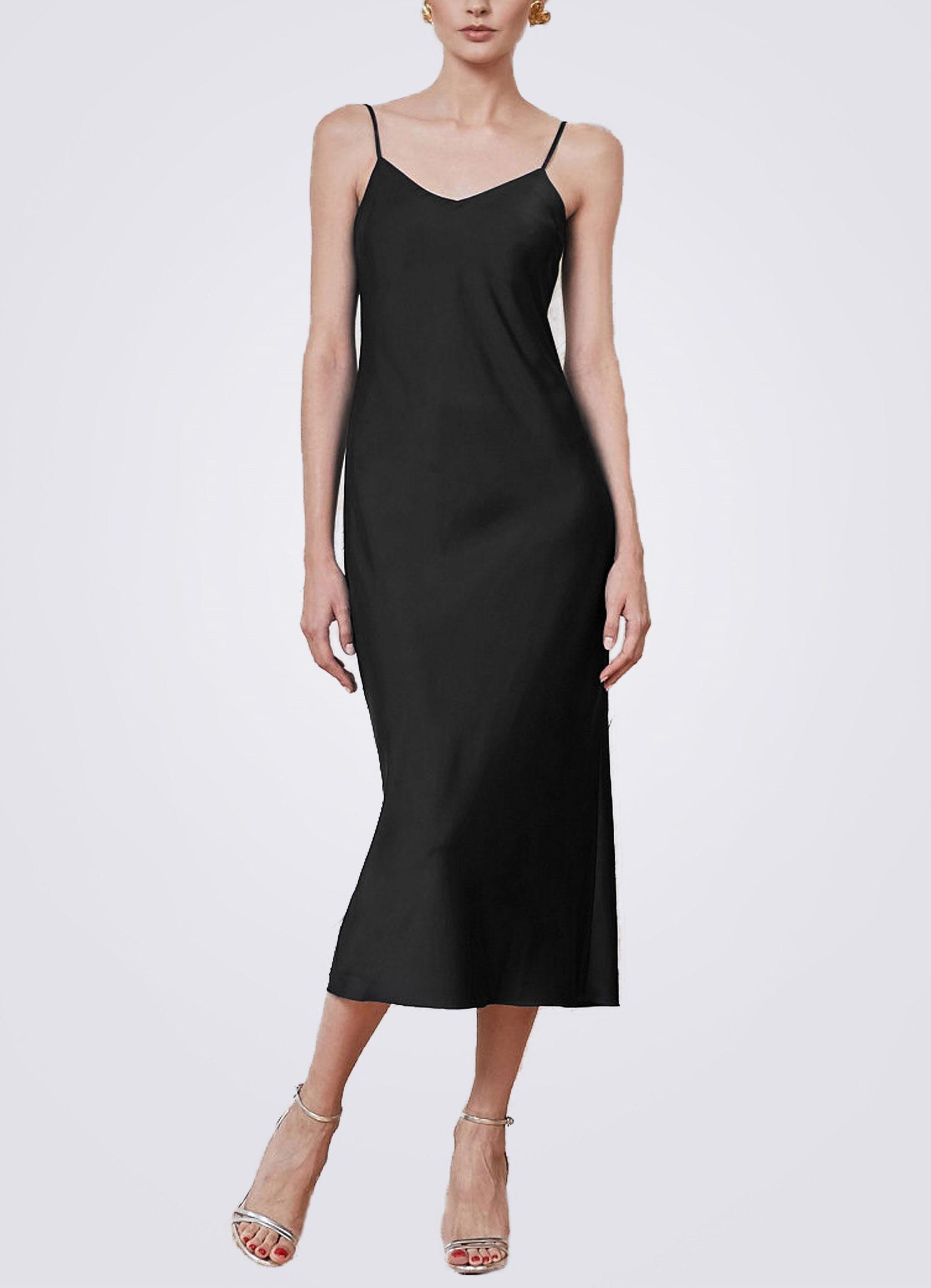 Платье комбинация миди ES.design черное EGOStyle
