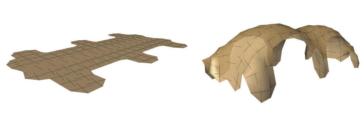 поверхностные тенсегрити  Kangaroo 3D