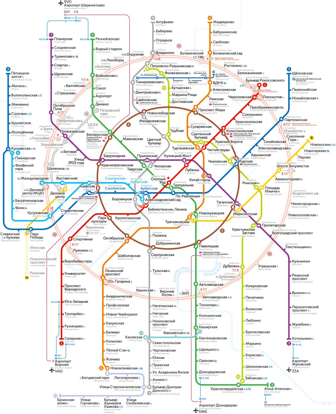 Схема московского мкц