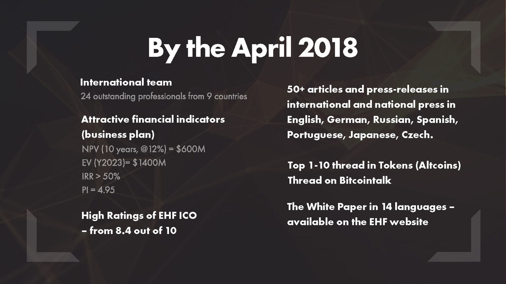 ❗ eHealth First ICO -- Pre-ICO Launch! + Whitelist -- May 9