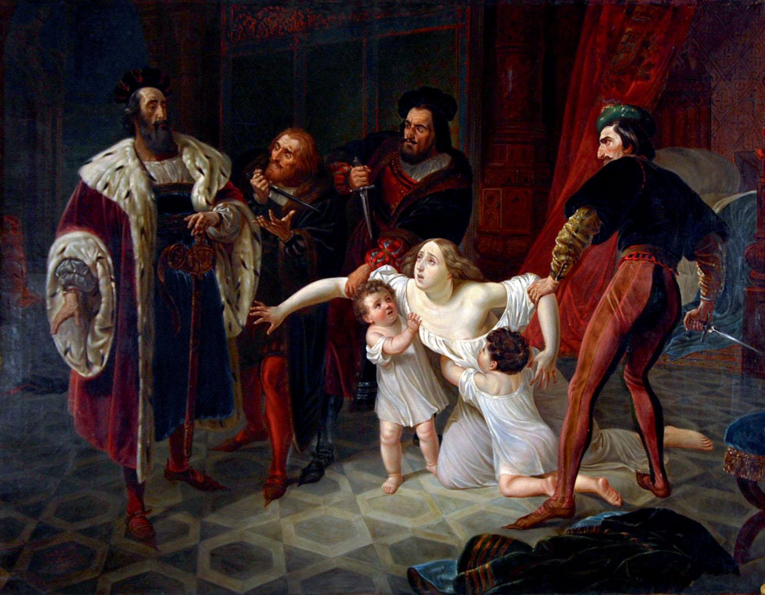 Карл Брюллов. «Смерть Инессы де-Кастро». (1834)