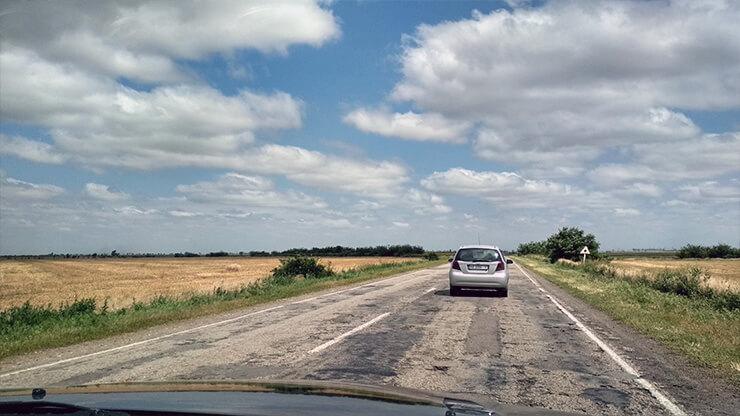 Дорога в Херсонской области - фото