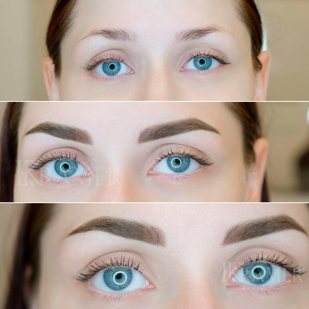 Перманентный макияж бровей фото - Студия Катерины Крамер