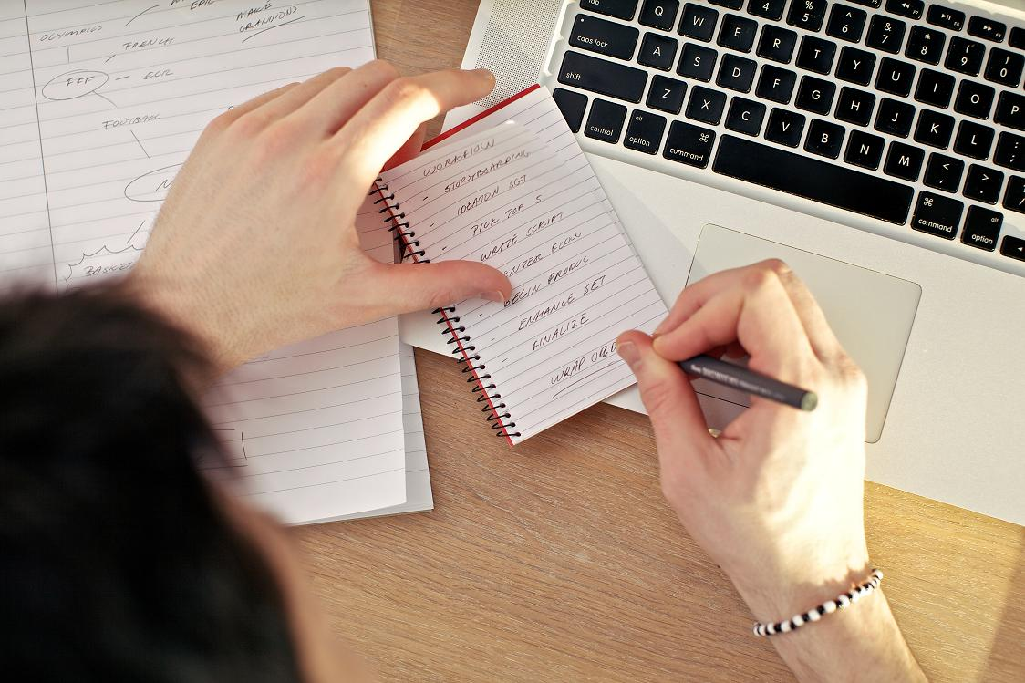 Технические требования в записной книжке