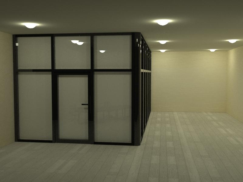 Смарт стекло для офисной перегородки.