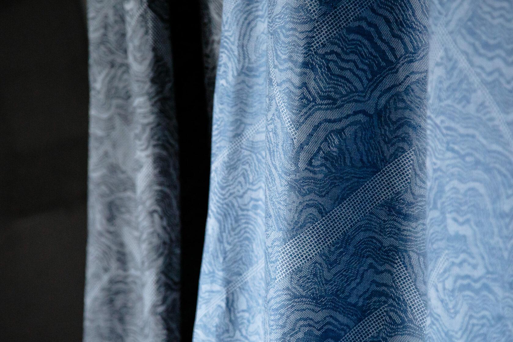 Linen jacquard, Kaleidoscope series. Made by the.DOT.home. Designed by Alexandra Falishtynskaya